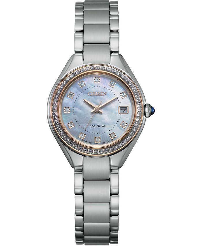Citizen - Women's Silhouette Stainless Steel Bracelet Watch 26mm