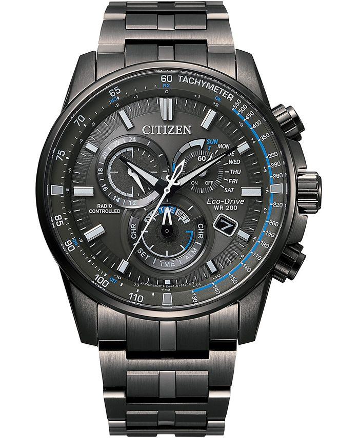 Citizen - Men's PCAT Gray Stainless Steel Bracelet Watch 43mm