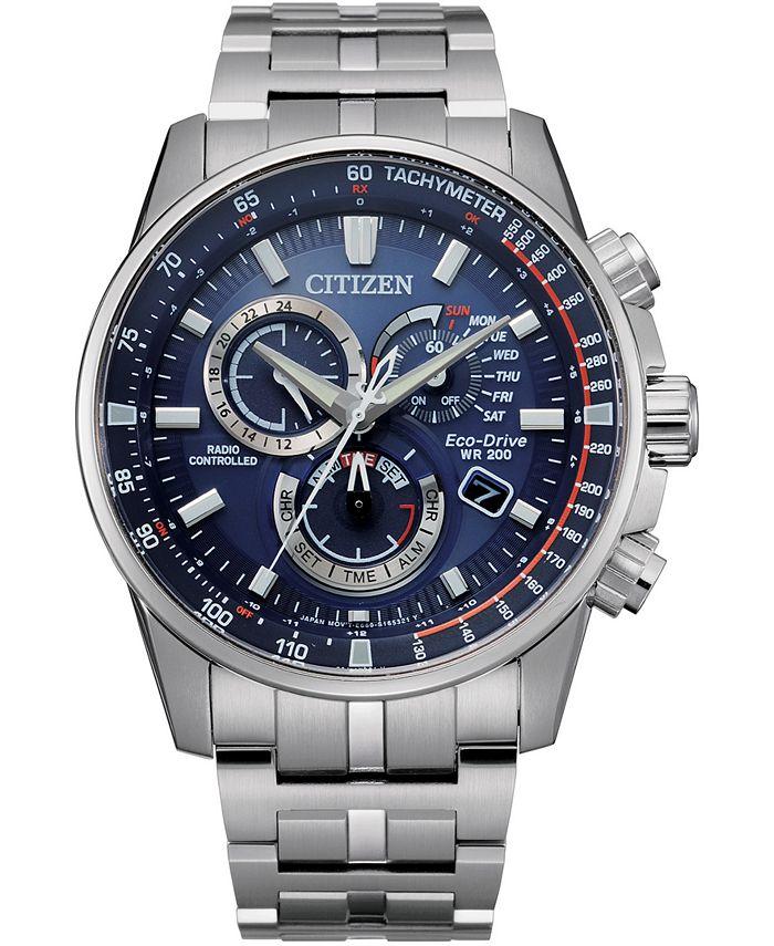 Citizen - Men's PCAT Stainless Steel Bracelet Watch 43mm