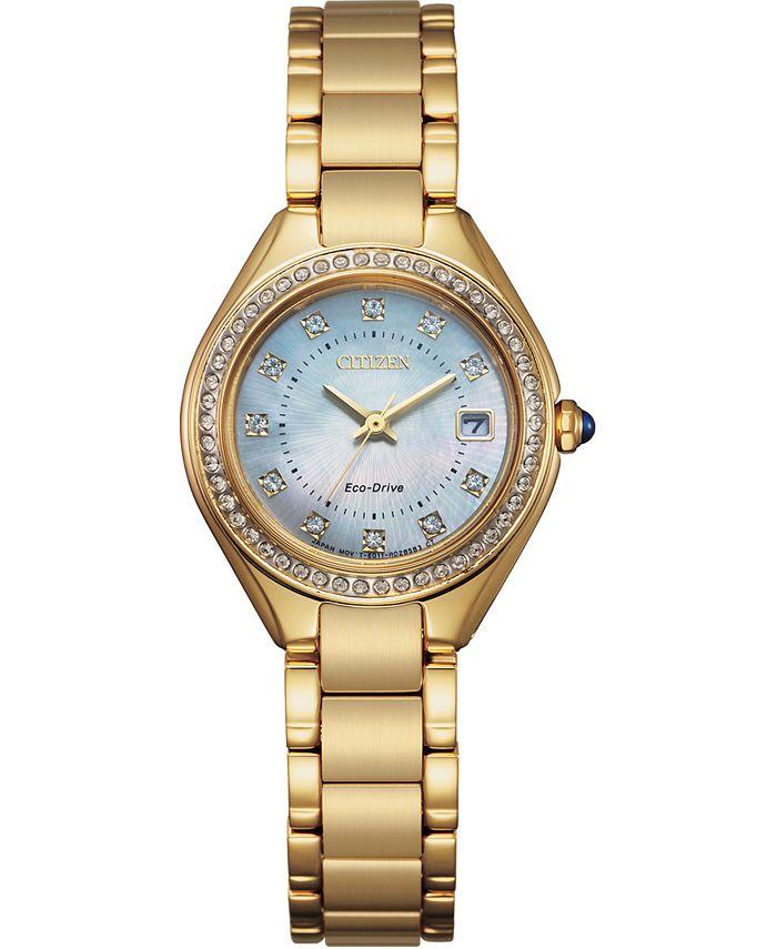 Citizen - Women's Silhouette Gold-Tone Stainless Steel Bracelet Watch 26mm