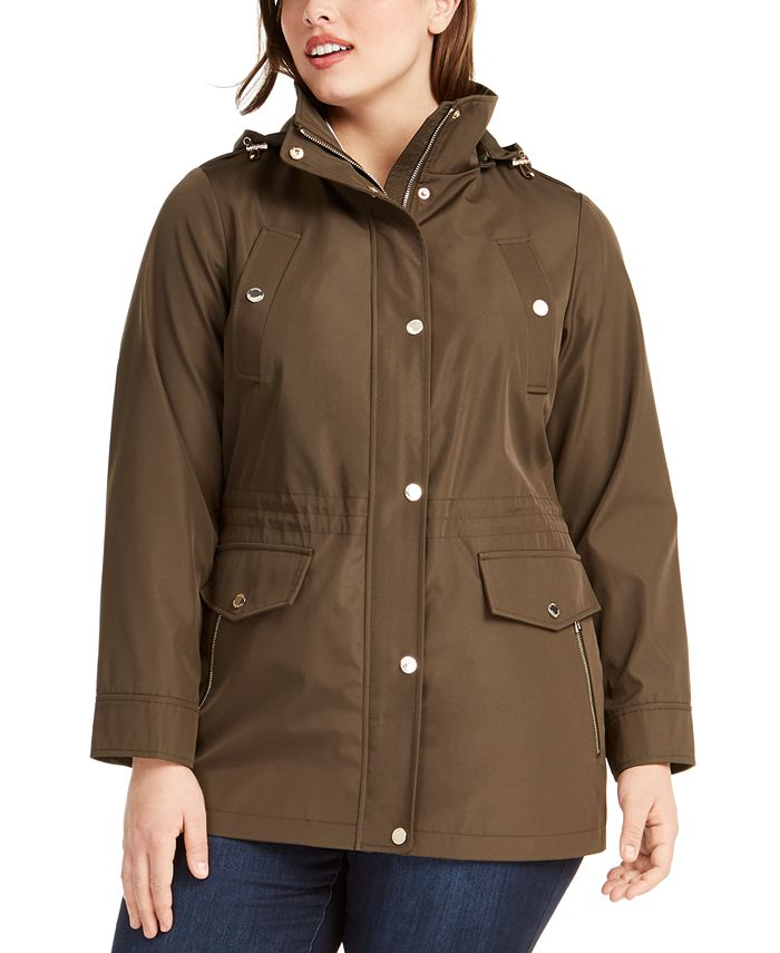 Michael Kors - Plus Size Hooded Anorak Jacket