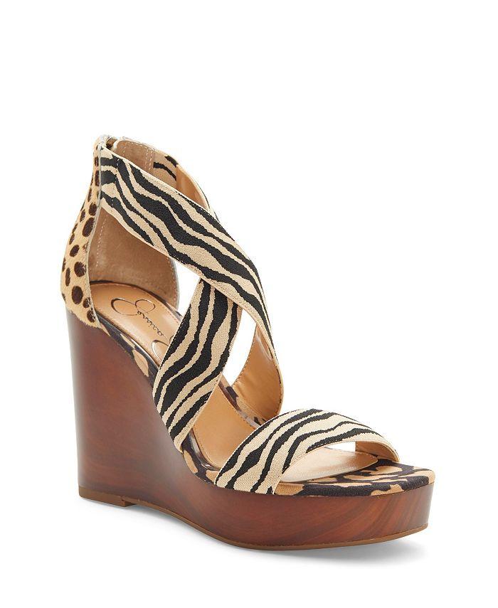 Jessica Simpson Siana Platform Wedge Sandals Reviews Sandals Shoes Macy S