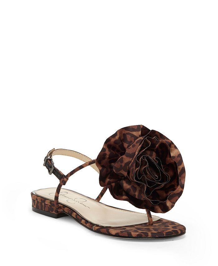 Jessica Simpson Kirah Flower Flat Sandals Reviews Sandals Shoes Macy S