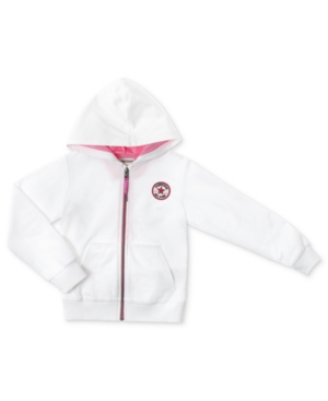 Converse Kids Sweatshirt Girls Logo Fleece Hoodie