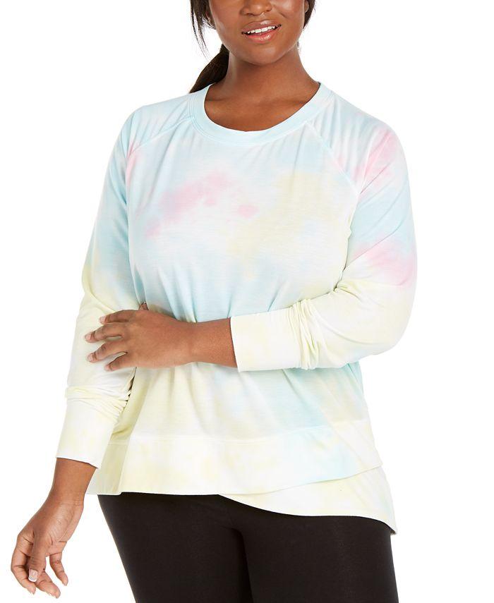 Ideology - Plus Size Tie-Dye Sweatshirt
