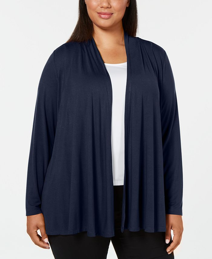 Karen Scott - Plus Size Open-Front Cardigan