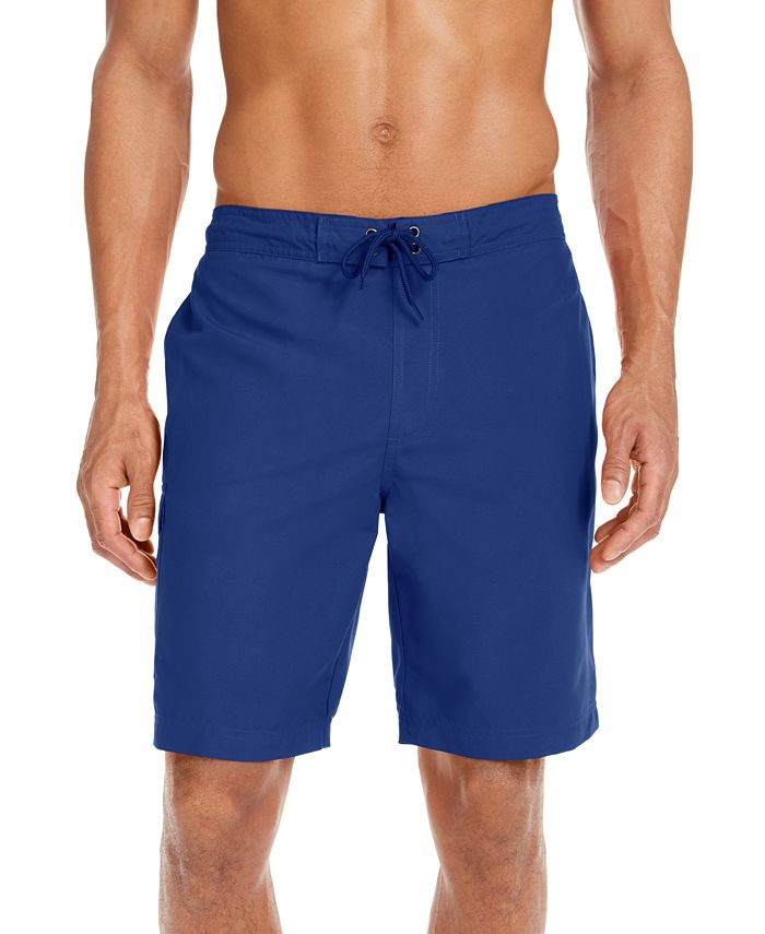 """Club Room - Men's Solid Quick-Dry 9"""" Board Shorts"""