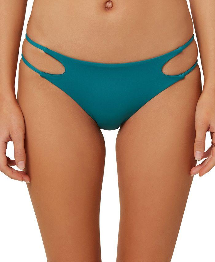 O'Neill - Juniors' Salt Water Solids Cutout Bikini Bottoms