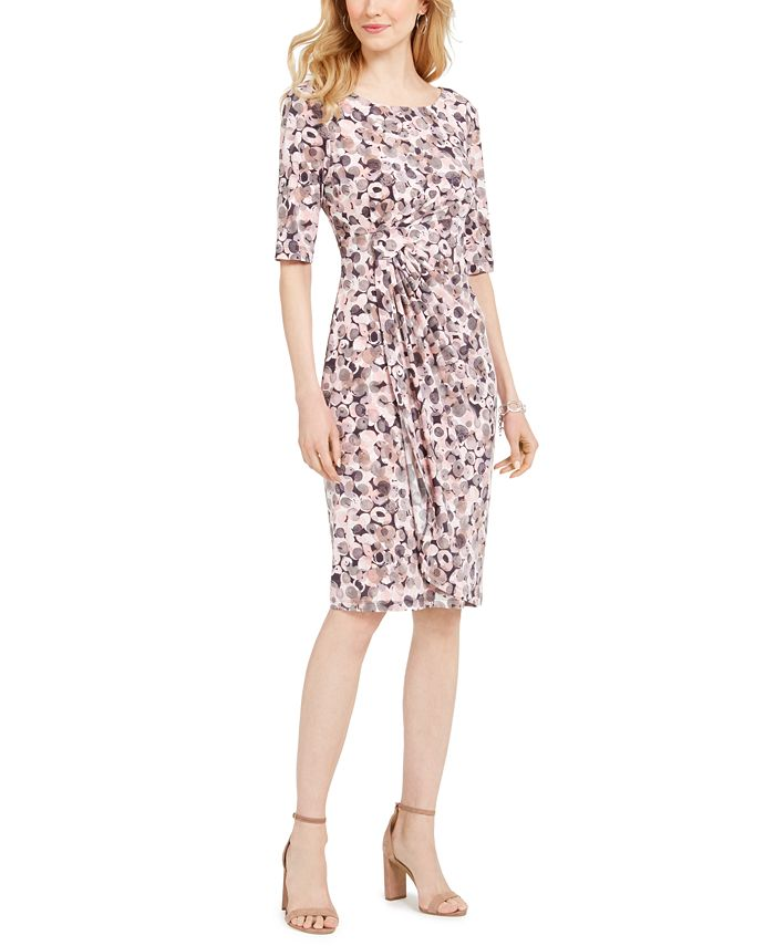 Connected - Ruched Printed Sheath Dress