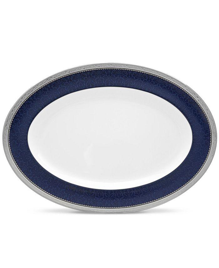 "Noritake - Odessa Cobalt Platinum Oval Platter, 16"""