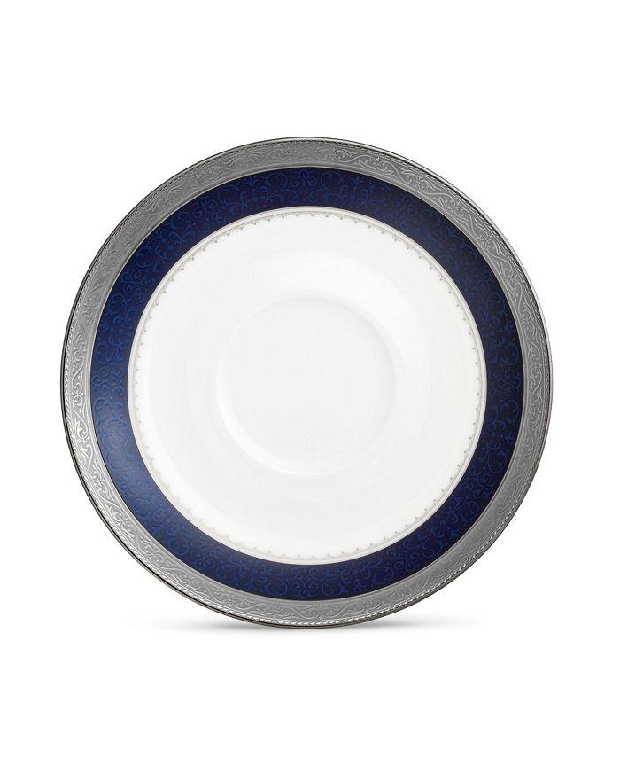 "Noritake - Odessa Cobalt Platinum Saucer, 6"""
