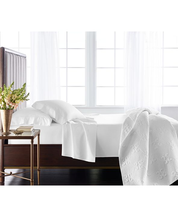 Hotel Collection Classic 800 Thread Count White Egyptian Cotton California King Fitted Sheet, Created for Macy's