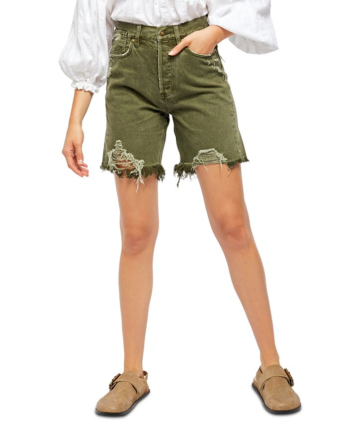 Free People - Sequoia Cotton Cutoff Denim Shorts