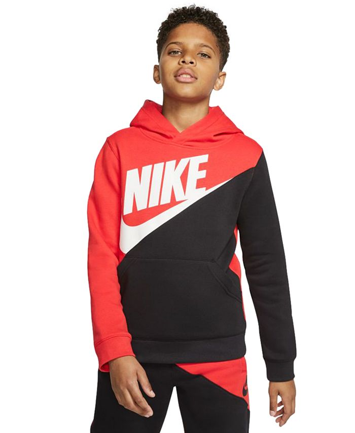 Nike - Big Boys Colorblocked Logo Hoodie