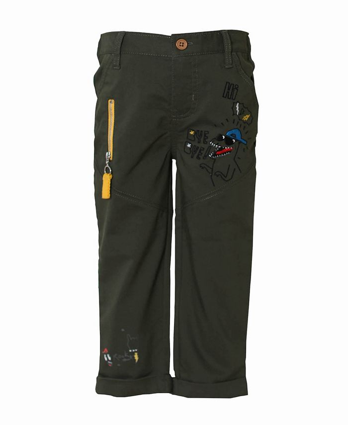 Kinderkind - Toddler and Little Boys Flat Front Stretch Trouser