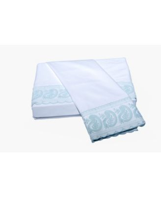 200 TC San Remo Lace Paisley Sheet Set, Queen