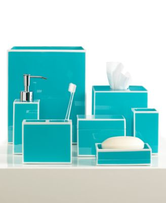 CLOSEOUT! Kassatex Bath Accessories, Blue Soho Soap and Lotion Dispenser