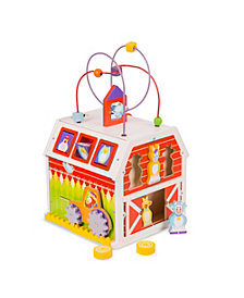 Melissa and Doug First Play Slide, Sort and Roll Activity Barn