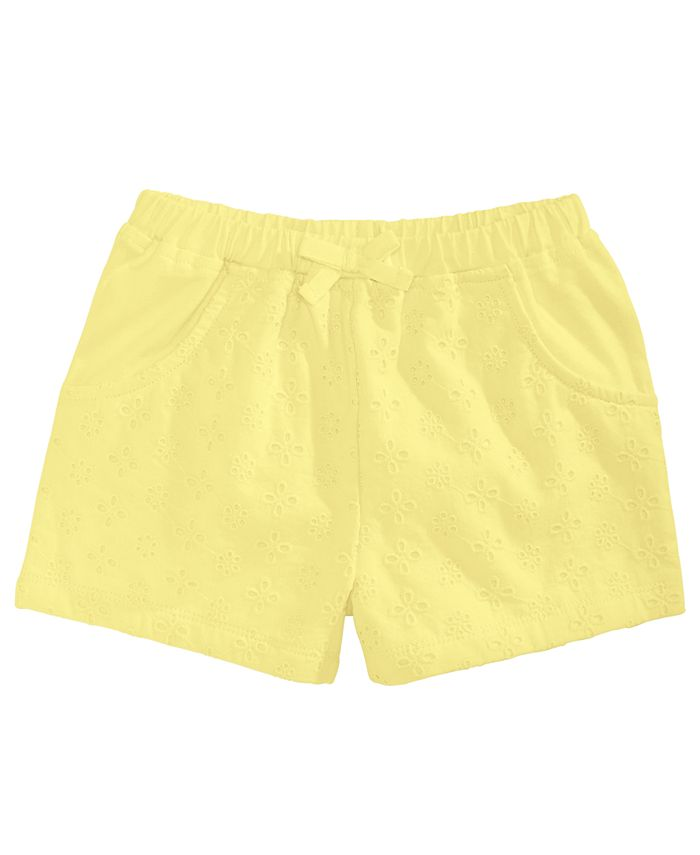 First Impressions - Toddler Girls Eyelet Shorts
