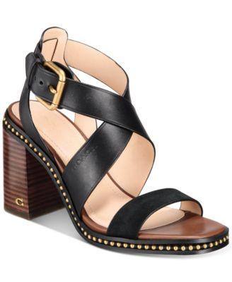 COACH Women's Mandy Leather Sandals