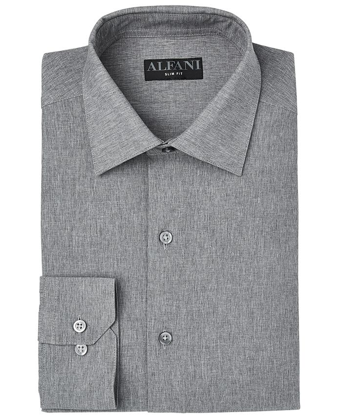 Alfani - Men's Slim-Fit Heather Dress Shirt