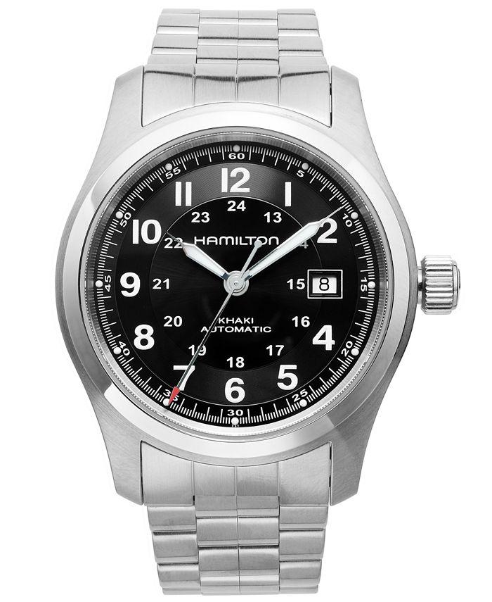 Hamilton - Watch, Men's Swiss Automatic Khaki Field Stainless Steel Bracelet 42mm H70515137