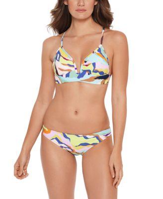 Juniors' Zebra-Print Hipster Bikini Bottoms, Created for Macy's