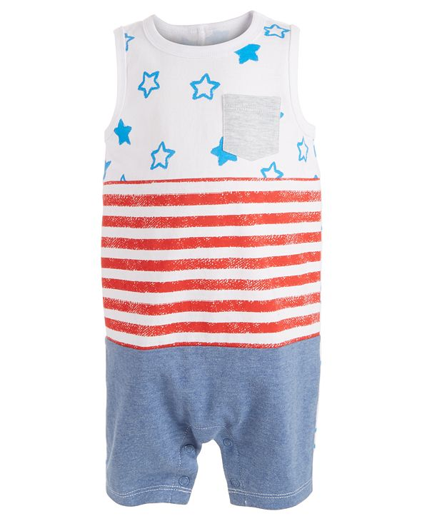 First Impressions Baby Boys Stars & Stripes Cotton Sunsuit, Created for Macy's