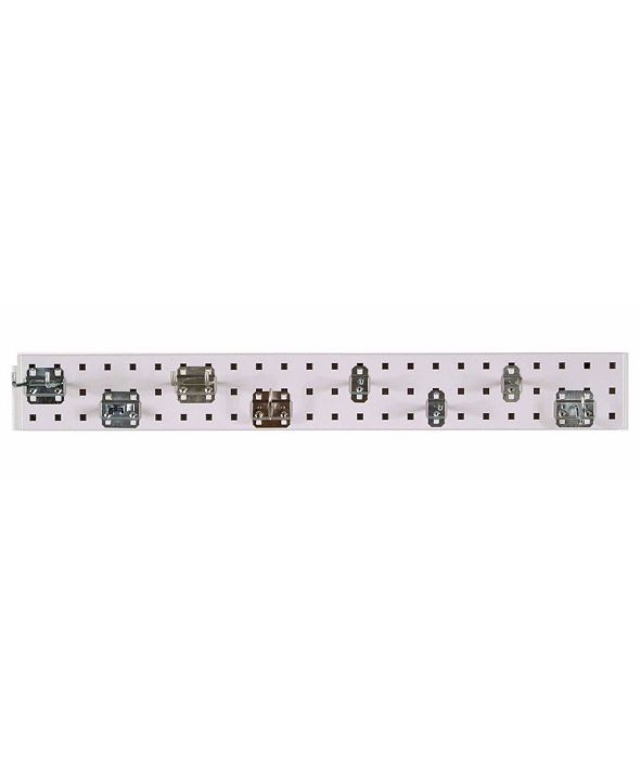 Triton Products Locboard Garden Pegboard Kit with 1 18 Gauge Steel Square Hole Pegboard and 8 Piece Lochook Assortment