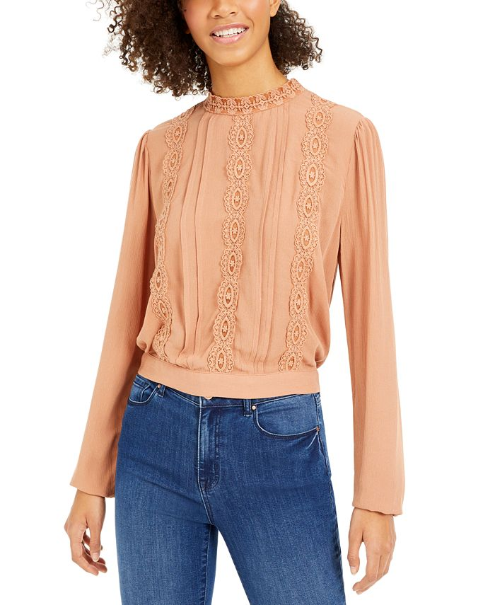 Self Esteem - Juniors' Crocheted Tie-Back Top