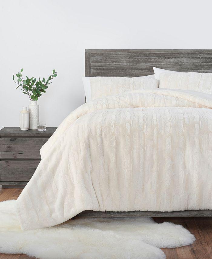 UGG® - Ugg Alondra Faux Fur Queen 3 Piece Comforter Set