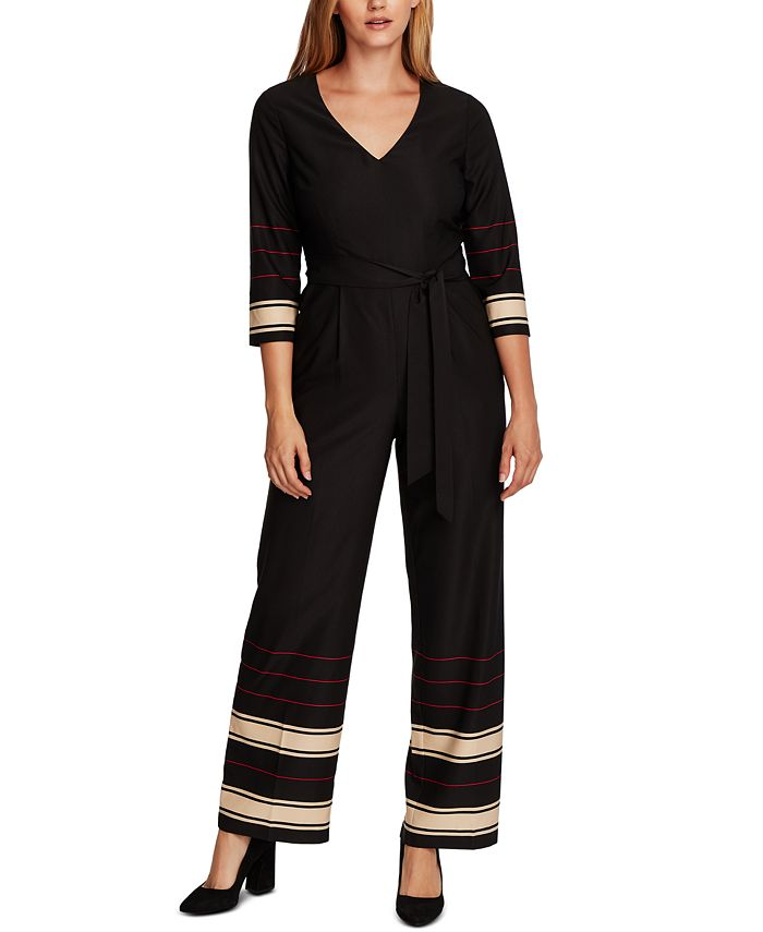 Vince Camuto - Striped Belted Jumpsuit