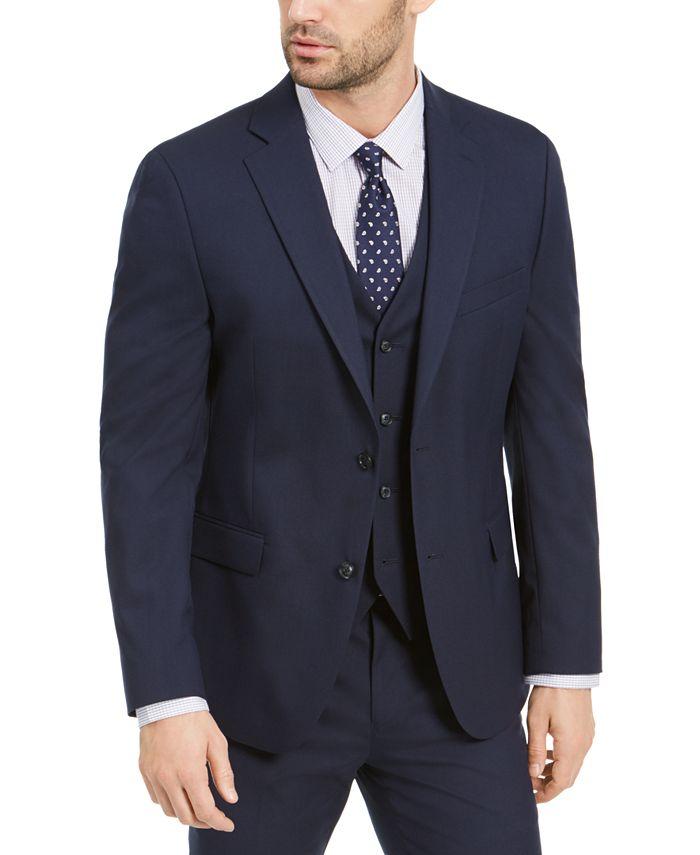 Alfani - Men's Slim-Fit Stretch Navy Blue Solid Suit Jacket