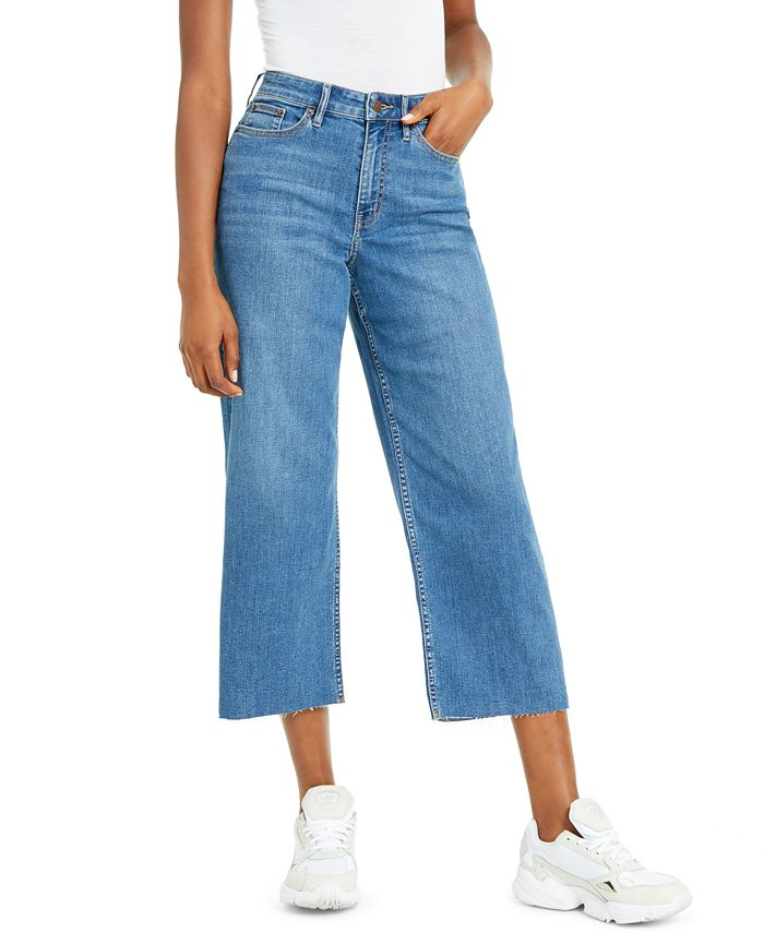 Calvin Klein Jeans - Cropped Wide-Leg Jeans