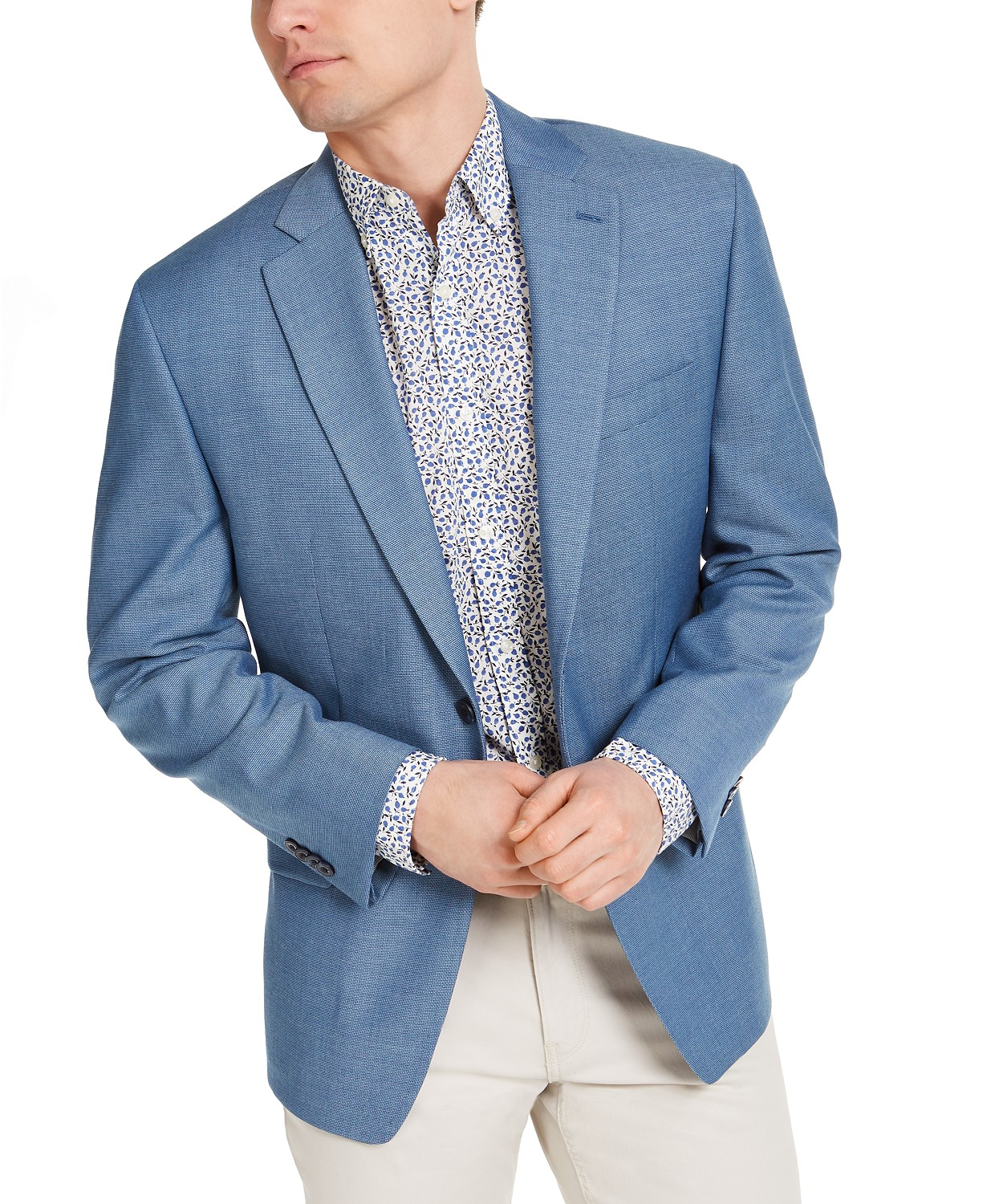 Michael Kors Men's Classic-Fit Light Blue Sport Coat