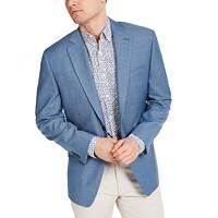 Deals on Michael Kors Mens Classic-Fit Light Blue Sport Coat