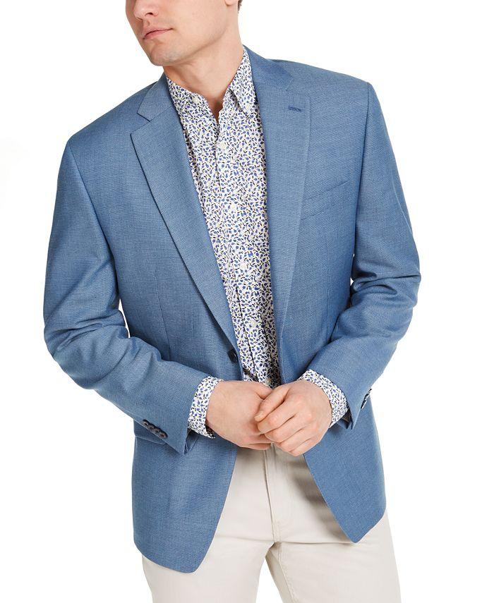 Michael Kors - Men's Classic-Fit Light Blue Sport Coat