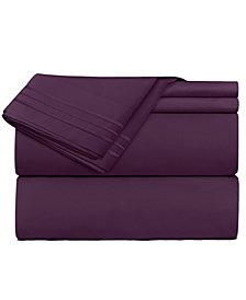 CLARA CLARK Premier 1800 Series 5 Piece Deep Pocket Bed Sheet Set, Split King