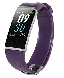 Body Glove Purple Rubber Band Activity Tracker and Heart Rate Monitor Watch 19mm