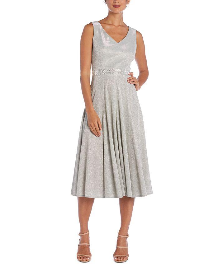 R & M Richards - Metallic Fit & Flare Dress