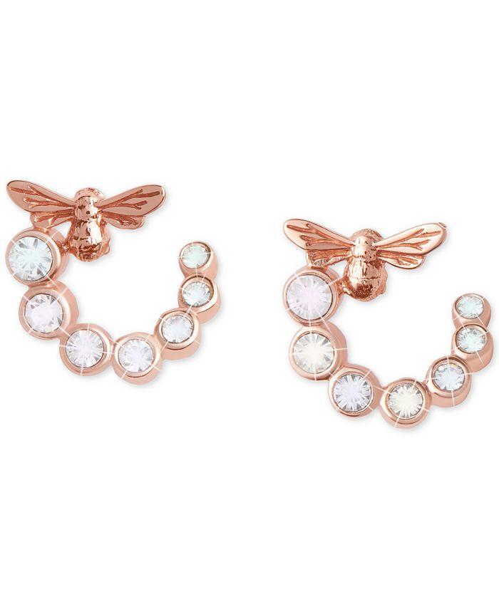 Olivia Burton - Crystal Lucky Bee Hoop Earrings