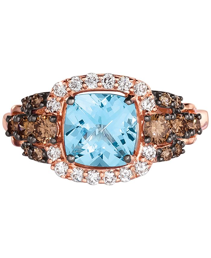 Le Vian - Blue Topaz (1-1/2 ct. t.w.) & Diamond (5/8 ct. t.w.) Ring in 14k Strawberry Gold