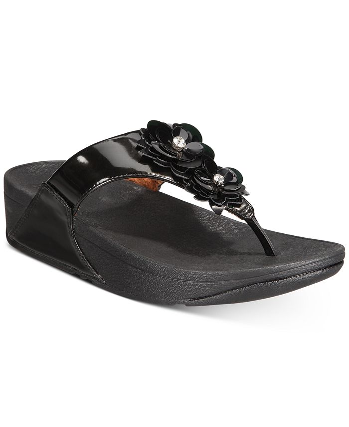 FitFlop - Lulu Flower Toe-Thong Sandals