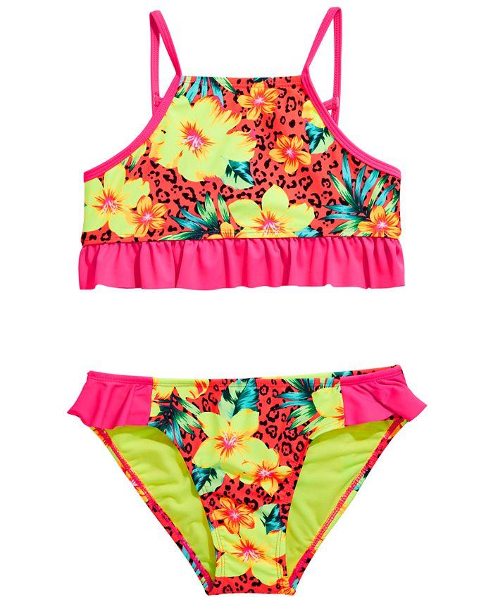 Breaking Waves - Big Girls 2-Pc. Sassy Tropics Bikini