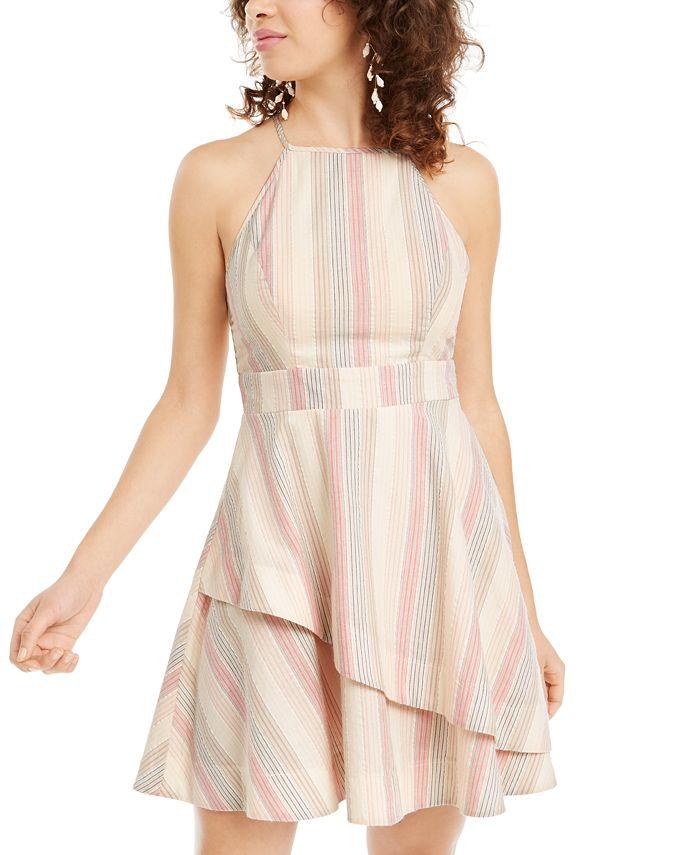 Speechless - Juniors' Striped Asymmetrical Dress