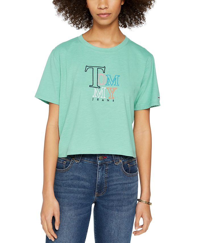 Tommy Jeans - Juniors' Cropped Logo T-Shirt