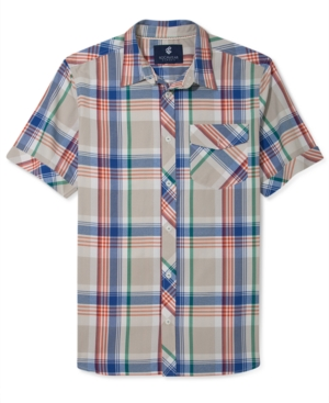 Rocawear Shirt Spike Plaid Short Sleeve Shirt