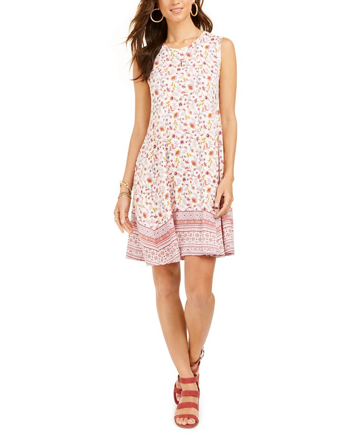 Style Co Floral Print Shift Dress Created For Macy S Reviews Dresses Women Macy S