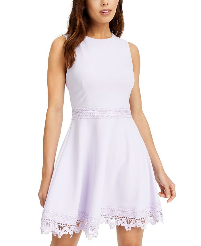 B Darlin - Juniors' Lace-Trim A-Line Dress Brand Name