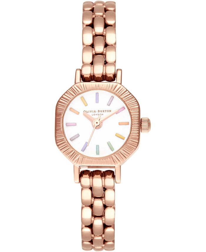 Olivia Burton - Women's Rose Gold-Tone Stainless Steel Bracelet Watch 23mm